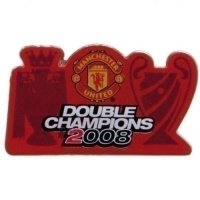 Manchester United FC Double Champions Badge