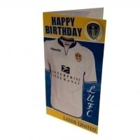 Leeds United F.C. Birthday Card Shirt