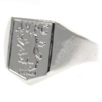 Aston Villa F.C. Silver Plated Crest Ring Medium