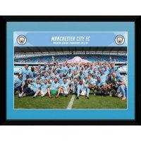 Manchester City F.C. Picture Champions 16 x 12