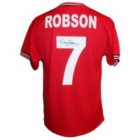 Manchester United FC Robson Signed Shirt