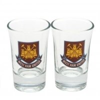 West Ham United F.C. 2pk Shot Glass Set CT
