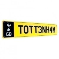 Tottenham Hotspur FC Number Plate Sign