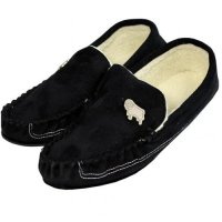 Derby County F.C. Mens Moccasins 7/8 BLK