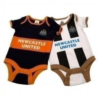 Newcastle United F.C. 2 Pack Bodysuit 0/3 mths GD
