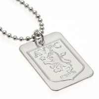 Aston Villa F.C. Silver Plated Dog Tag & Chain
