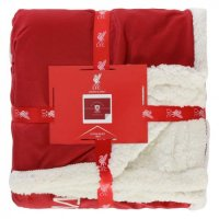 Liverpool F.C. Sherpa Fleece Blanket YNWA