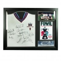 West Ham United F.C. 1980 FA Cup Final Signed Shirt (Framed)