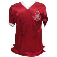 Nottingham Forest FC 1979 European Cup Final Signed Shirt