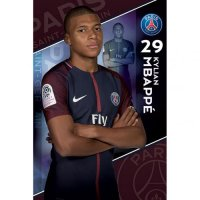Paris Saint Germain F.C. Poster Mbappe 19