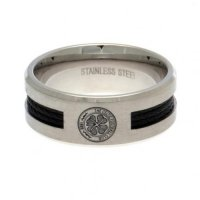 Celtic FC Black Inlay Ring Large