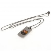 F.C. Barcelona Colour Crest Dog Tag & Chain