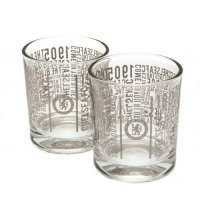 Chelsea F.C. 2pk Whiskey Glass Set TX