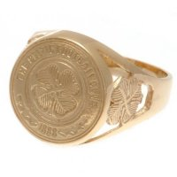 Celtic FC 9ct Gold Crest Ring Small