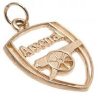 Arsenal FC 9ct Gold Pendant Crest