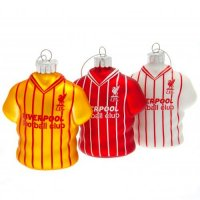 Liverpool FC 3pk Retro Shirt Baubles