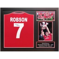 Manchester United FC Robson Signed Shirt (Framed)