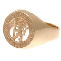 Chelsea F.C. 9ct Gold Crest Ring Medium