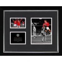 Manchester United F.C. Historic Moments Picture Sheringham 16x20