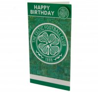 Celtic F.C. Birthday Card & Badge